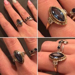 VTG Blue Topaz Gold Ring